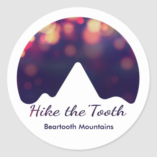 Hike the 'Tooth starlight logo sticker