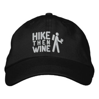 Hike then Wine Personalized Adjustable Hat