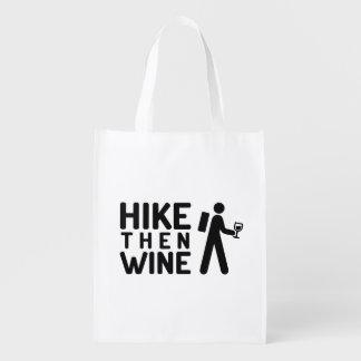 Hike then Wine Reusable bag