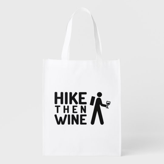 Hike then Wine Reusable bag