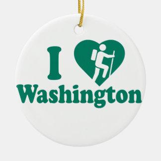 Hike Washington Christmas Ornament