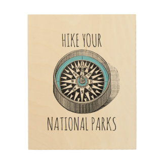 Hike Your National Parks Wood Art