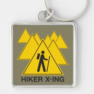 Hiker Crossing Keychain