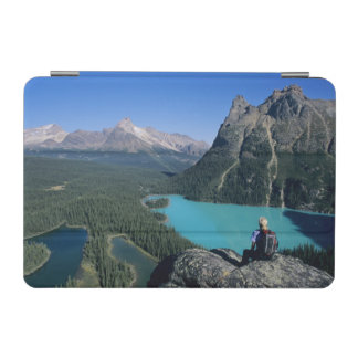Hiker overlooking turquoise-colored Lake iPad Mini Cover