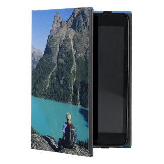 Hiker overlooking turquoise-colored Lake iPad Mini Cover