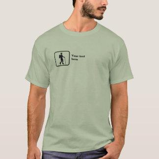 Hiker -- Small Logo -- Customizable T-Shirt