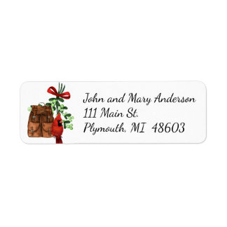 Hikers Christmas Address Label