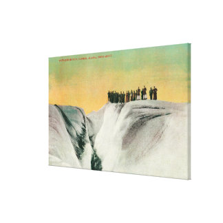 Hikers on Muir Glacier, AlaskaMuir Glacier, AK Canvas Print