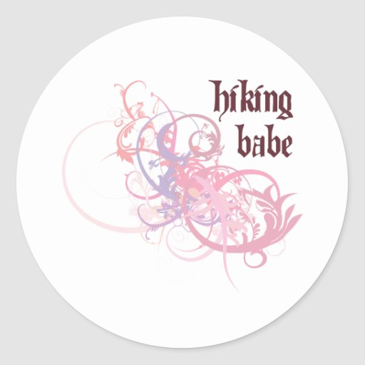 Hiking Babe Stickers