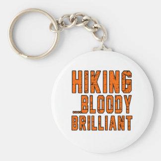 Hiking Bloody Brilliant Keychain