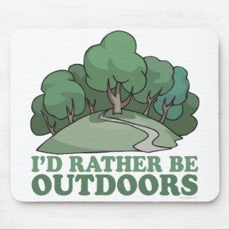 Hiking, Camping, Trekking, Climbing Outdoors! Mouse Mat