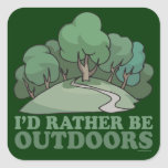 Hiking, Camping, Trekking, Climbing Outdoors! Sticker