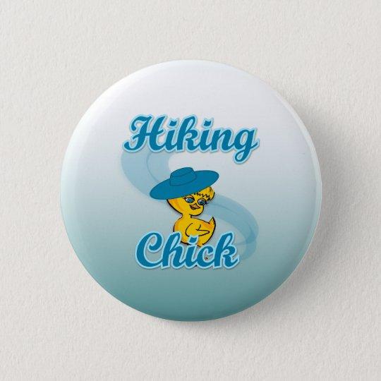 Hiking Chick #3 6 Cm Round Badge
