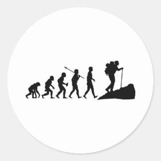 Hiking Classic Round Sticker