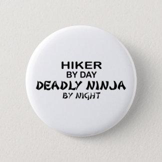 Hiking Deadly Ninja by Night 6 Cm Round Badge