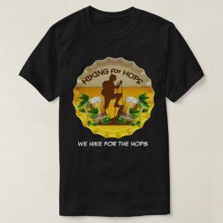 Hiking for Hops Dark Tee Shirt & Bottle Cap Logo