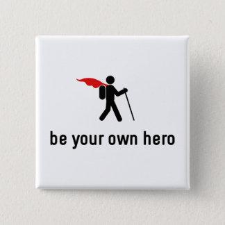 Hiking Hero 15 Cm Square Badge