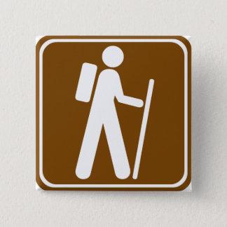 Hiking Highway Sign 15 Cm Square Badge