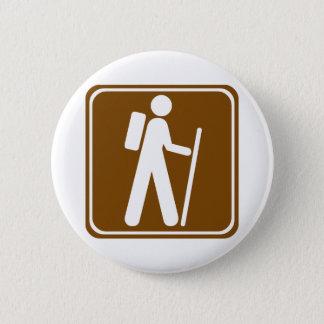 Hiking Highway Sign 6 Cm Round Badge