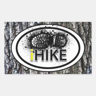 "Hiking ""iHIKE"" Boot Print Tag Stickers"