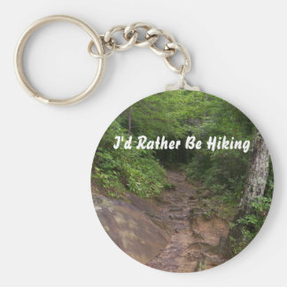 Hiking in the Great Smoky Mountains Basic Round Button Key Ring