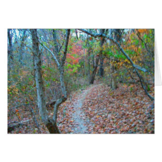 Hiking Right Up The Hill Greeting Card
