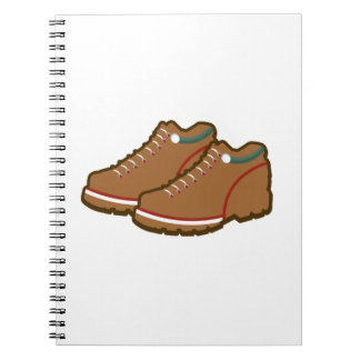 Hiking Shoes Spiral Notebook