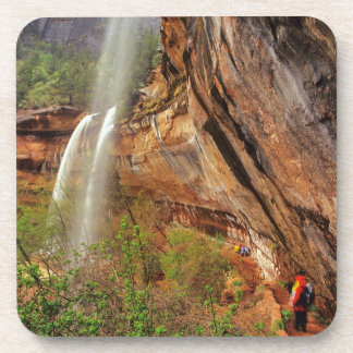Hiking The Emerald Pools Trail in Zion National Beverage Coaster