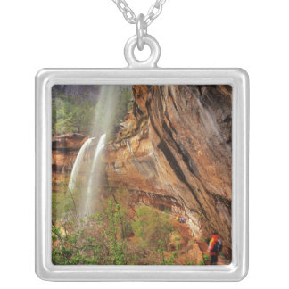 Hiking The Emerald Pools Trail in Zion National Silver Plated Necklace
