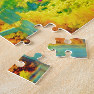 Hiking Through Appalachians Brush Painted Jigsaw Puzzle