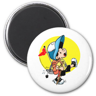 Hiking Time 6 Cm Round Magnet