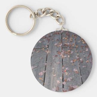 Hiking Trail Boardwalk Basic Round Button Key Ring