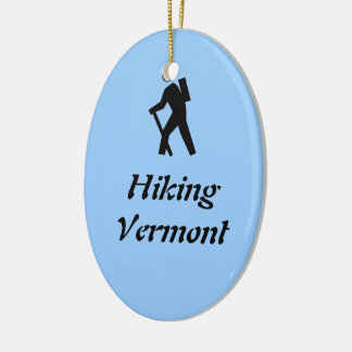 Hiking Vermont Christmas Ornament