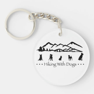Hiking With Dogs Keychain