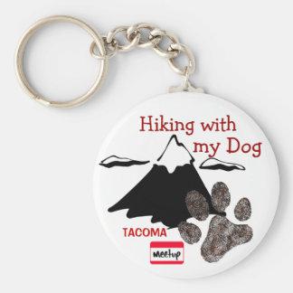 Hiking with my dog key chain