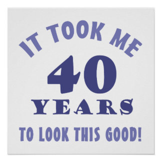 Hilarious 40th Birthday Gag Gifts Poster