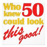 HIlarious 50th Birthday Party Invitations