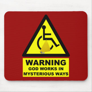 Hilarious atheist mouse pad