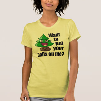 Hilarious Christmas Tree Tee Shirts