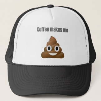 Hilarious Coffee poop-emoji - Poo cartoon design Trucker Hat