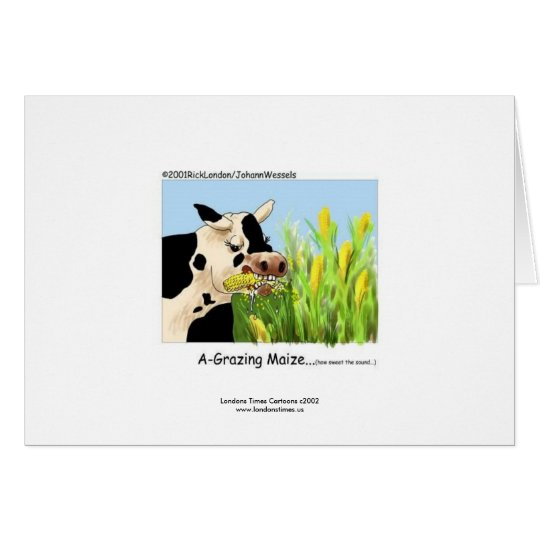 Hilarious Cow Greeting Card