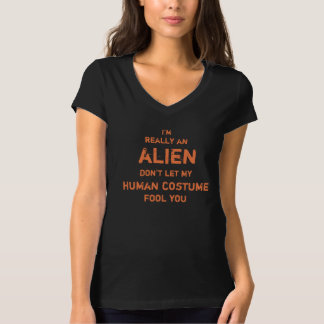Hilarious I'm really an alien Halloween T-Shirt