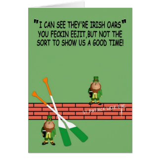 Hilarious Irish birthday Greeting Card