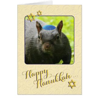 Hilarious Jewish Squirrel • Happy Hanukkah Card