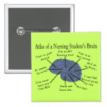 "Hilarious Nursing Student ""Brain"" Gifts 15 Cm Square Badge"