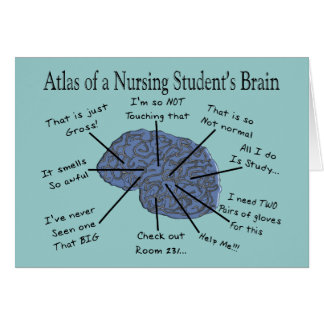 "Hilarious Nursing Student ""Brain"" Gifts Card"