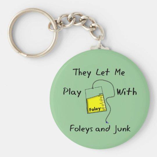 "Hilarious Nursing Student Gifts ""Foleys and Junk"" Key"