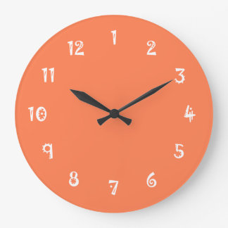 Hilarious One Color Coral Wall Clocks