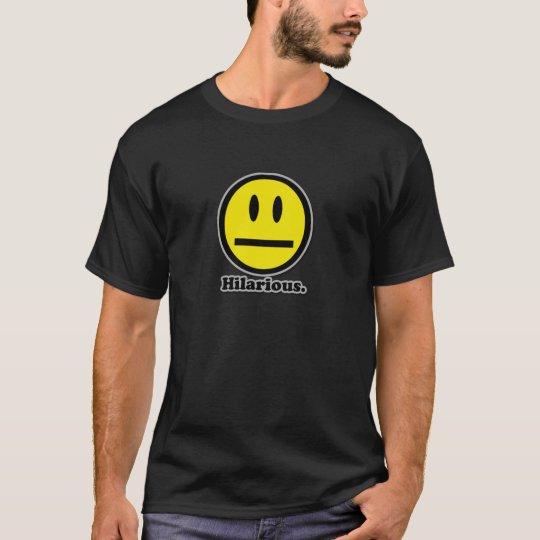Hilarious Poker Face Smiley T-Shirt
