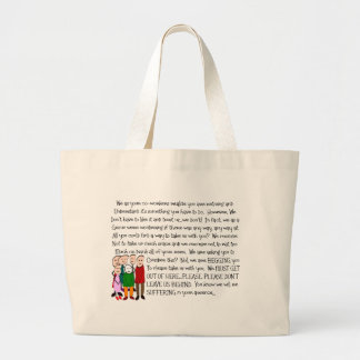 Hilarious Retirement Card--From The Gang! Large Tote Bag